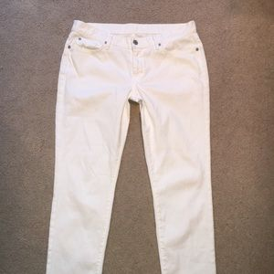Seven for All Man Kind white skinny jeans size 31